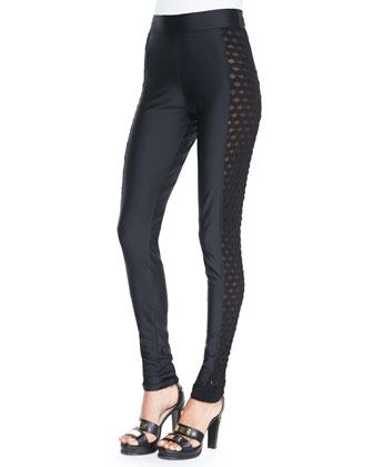 Side Cutout Leggings, Black