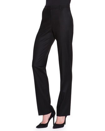 Wide-Leg Trouser Pants