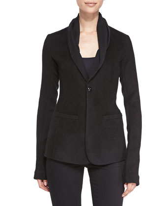 Cashmere One-Button Blazer