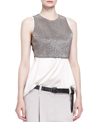 Sleeveless Cropped Monili Armor Top