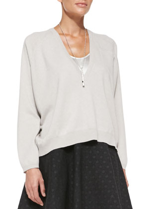 V-Neck Cashmere Pochette Sweater