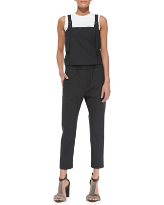 Lightweight Gathered-Back Overalls