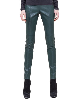 Slim Stretch Napa Leather Pants