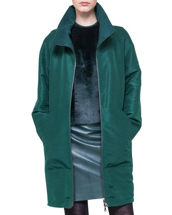 Reversible Silk and Cashmere Parka