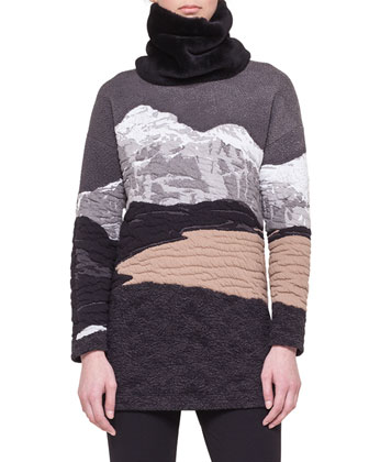 Swiss Alps Jacquard Sweater