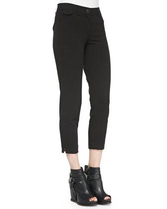 Cropped Stretch Denim Pants