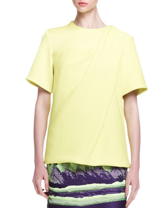 Short-Sleeve Bias-Draped T-Shirt