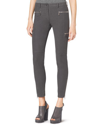 Stretch Zipper Skinny Pants