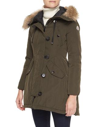 Parka with Fur-Trim Hood