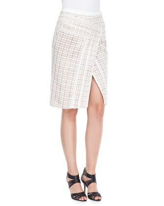 Asymmetric Lace Crossover Skirt