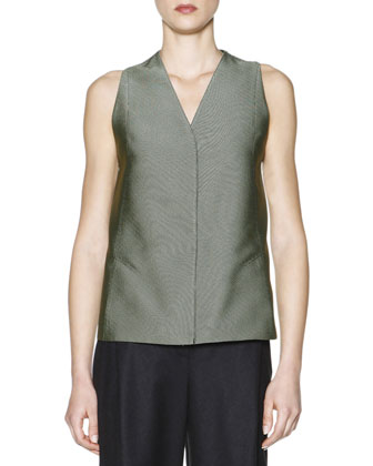 Jacquard Seamed-Back Vest