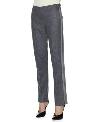 Side-Stripe Slim-Leg Pants