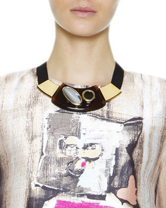 Mixed Media Collar Necklace