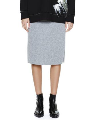 Back-Flounce Bonded Jersey Skirt