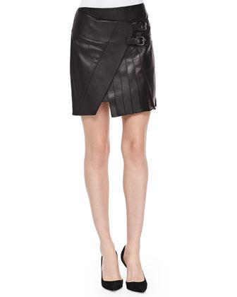 Short Leather Kilt Skirt