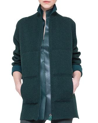 Bicolor Cashmere Reversible Zip Jacket