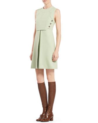 Wool Silk Sleeveless Dress