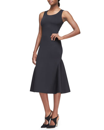 Neoprene Seamed Tank Dress