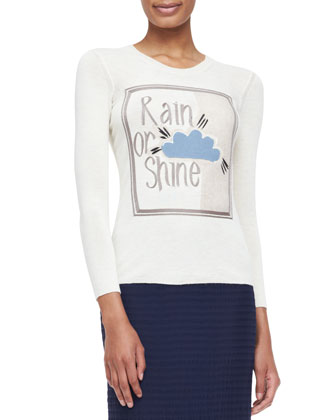 Rain or Shine Graphic Knit Top