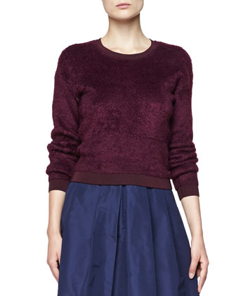 Velvet Crewneck Sweater