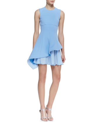 Sleeveless Asymmetric Flounce Dress