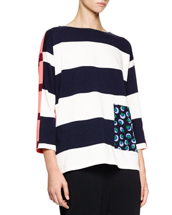 Colorblock Wide-Striped Sweater