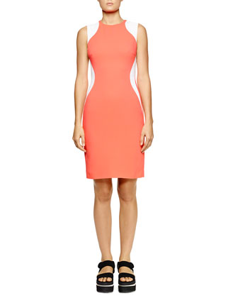 Miracle Sleeveless Colorblock Dress, Bubble Gum