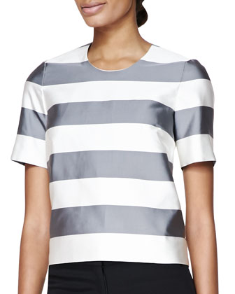 Stripe Round-Neck T-Shirt