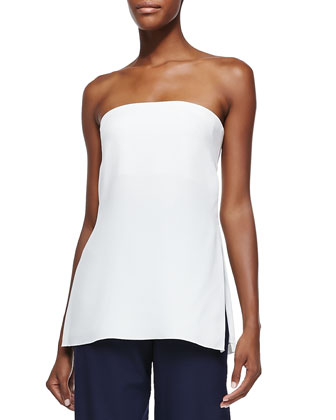 Strapless Bustier Top W/ Vented Sides