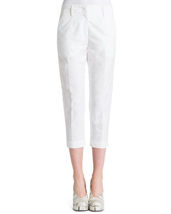 Tommy Flat-Front Cropped Pants