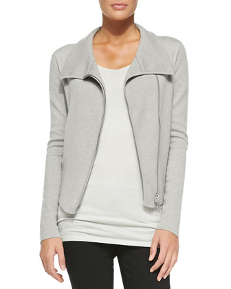 Fitted Asymmetric Zip-Front Jacket