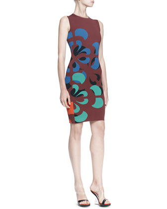 Broken Flower Sheath Dress