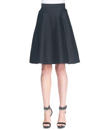 A-Line Side Button Overlay Skirt