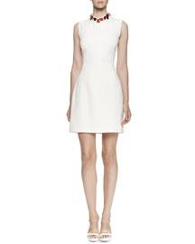 Sleeveless Heart-Embellished Dress