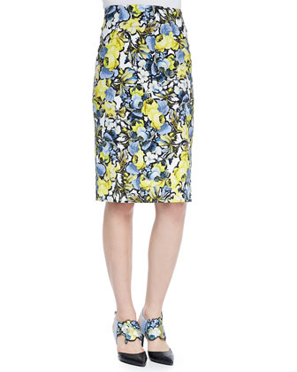 Frida Printed Pencil Skirt