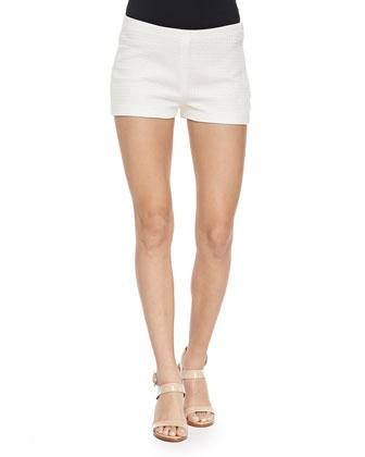 Woven Side-Zip Shorts