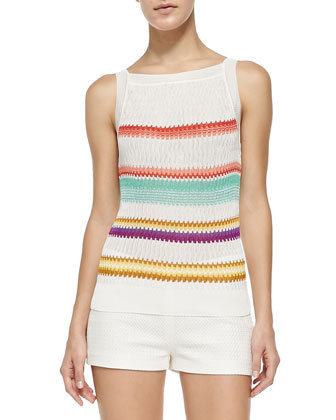 Multi-Striped V-Back Tank