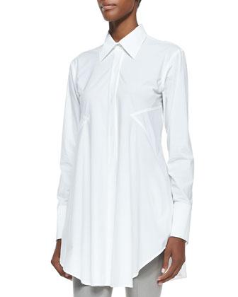 Easy Button-Down Shirt, White