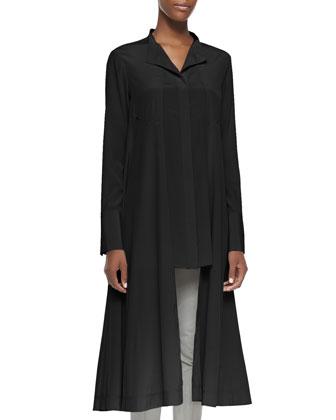 Long-Sleeve Tunic W/ Cutaway Hem
