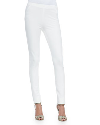 Pull-On Poplin-Front Pants