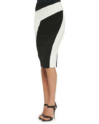 Pull-On Pencil Collage Skirt