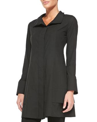 Long-Sleeve Tunic Jacket