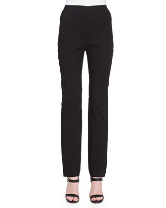 Straight-Leg Pull-On Trousers