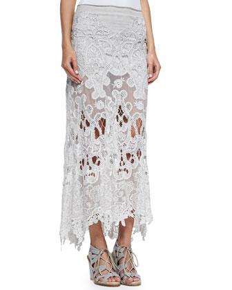Macram?? A-line Skirt