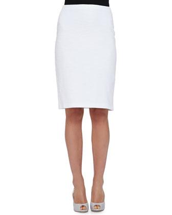 Cotton Boucle Pencil Skirt