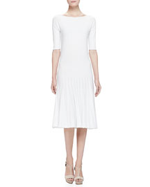 Seamless Knit Short-Sleeve Dress