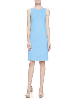 Milano Jersey Sheath Dress, Topaz