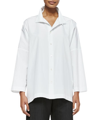 Long-Sleeve Imperial Two-Collar Shirt
