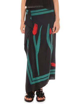 Painted Cascade Long Skirt