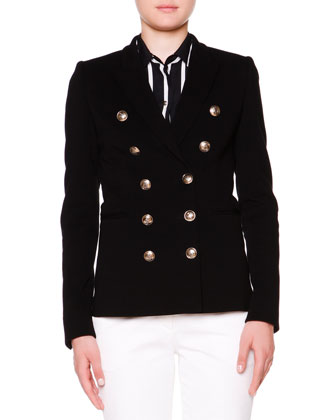 Double-Breasted Golden Button Jacket